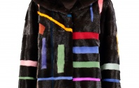 Steven Corn Abstract Mink Jacket