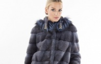 Denim Cross Mink Parka