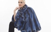 Steven Corn Blue Mink Cape