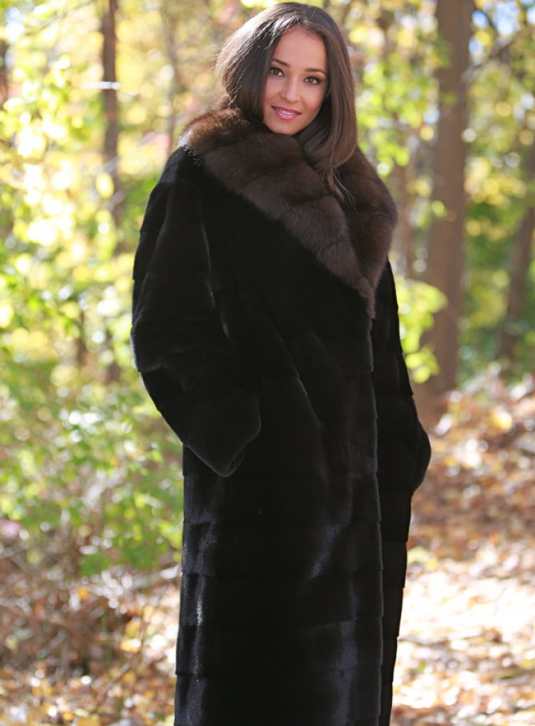 Our Ultimate Black Platinum Mink Coat | Steven Corn Furs