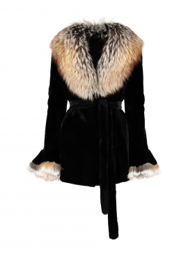 Sheared Mink Jacket with Fox Trim