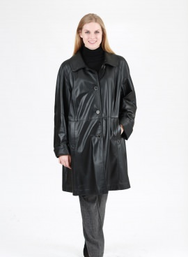 Plus Size Leather Car Coat