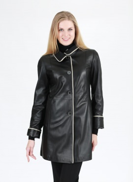 Italian Leather Fitted Jacket