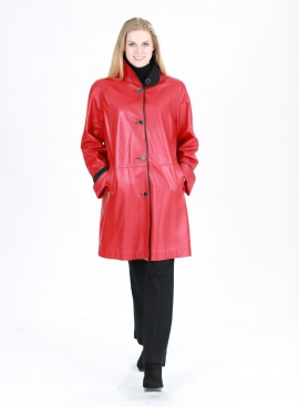 Red Leather Topper