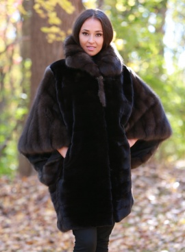 MInk & Sable Cape Jacket