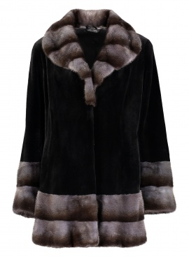 Sheared Mink Jacket with Mink Trim