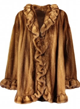 Scalloped Mink Coat