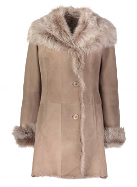 Taupe Shearling Jacket