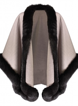 Loro Piana Cashmere Cape with Fox Trim