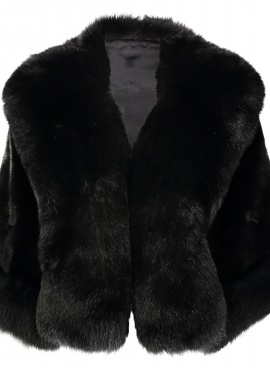 Mink Cape with Fox Trim