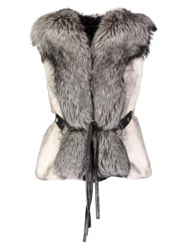 Mink Vest with Fox Trim