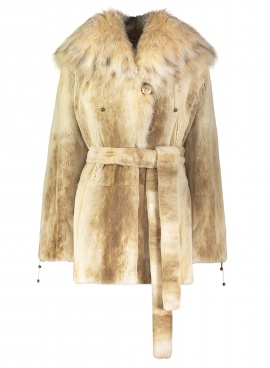 Palomino Sheared Mink Parka With Lynx
