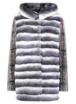Rex Rabbit & Boucle Wool Jacket