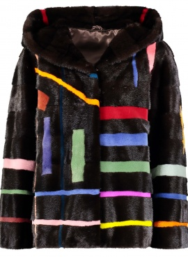 Mink Abstract Intarsia Jacket