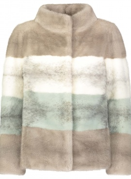 Tri Color Mink Jacket