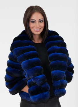 Chinchilla Bolero Cobalt Blue