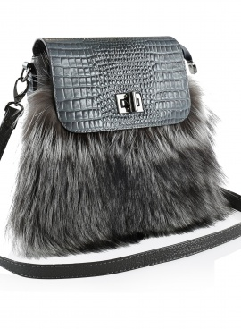 Leather Fox Crossbody Bag