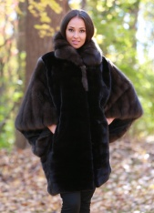 LUXURY MINK CAPE JACKET
