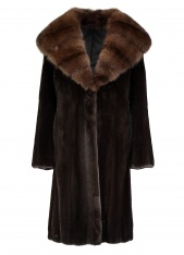 Mink Coat with Sable Trim