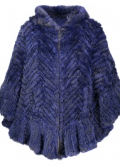 Blue Rex Rabbit Poncho