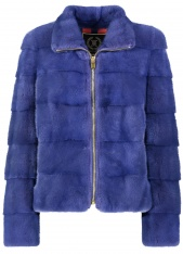 BLUE INDIGO MINK JACKET