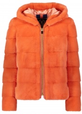 CREAMSICLE MINK SKI JACKET