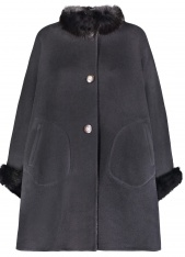 WOOL & FOX REVERSIBLE CAPE