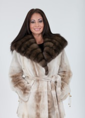 Palomino Sheared Mink Belted Wrap
