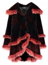 Red Onyx Sheared Beaver with Fox Trim