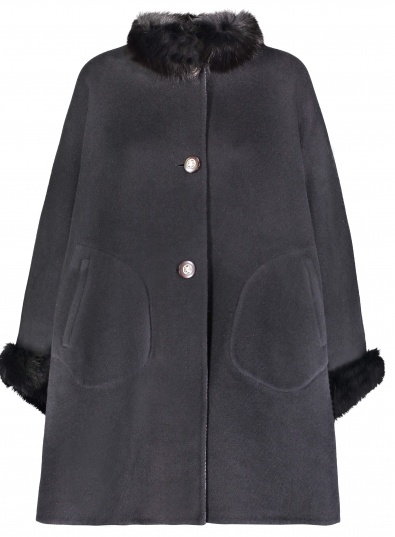 wool cape with fox