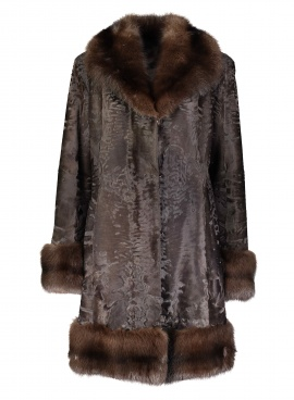 Broadtail Lamb Jacket with Sable Trim