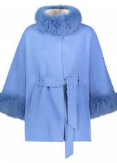 CASHMERE BELTED CAPE