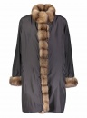 Reversible Sheared Mink with Sable Trim